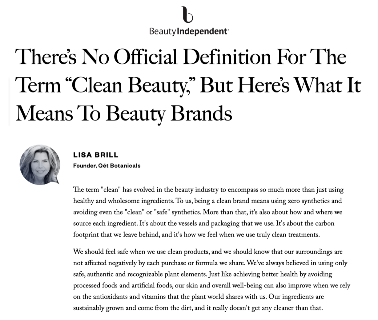 Qet-Botanicals-Founder-Lisa-Brill-Beauty-Independent-Clean-Beauty-Article