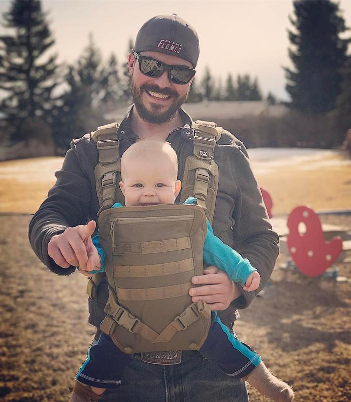 Tactical baby gear for Daddy carrier