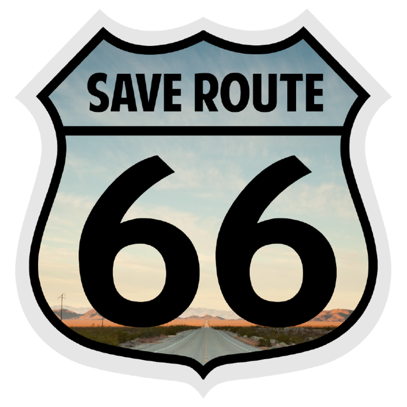 save route 66 rh saveroute66 com route 66 logo wallpaper route 66 logo free printable