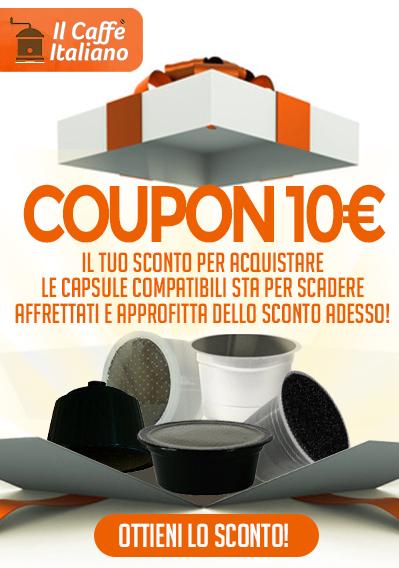 sconto 10€ caffè compatibile nespresso