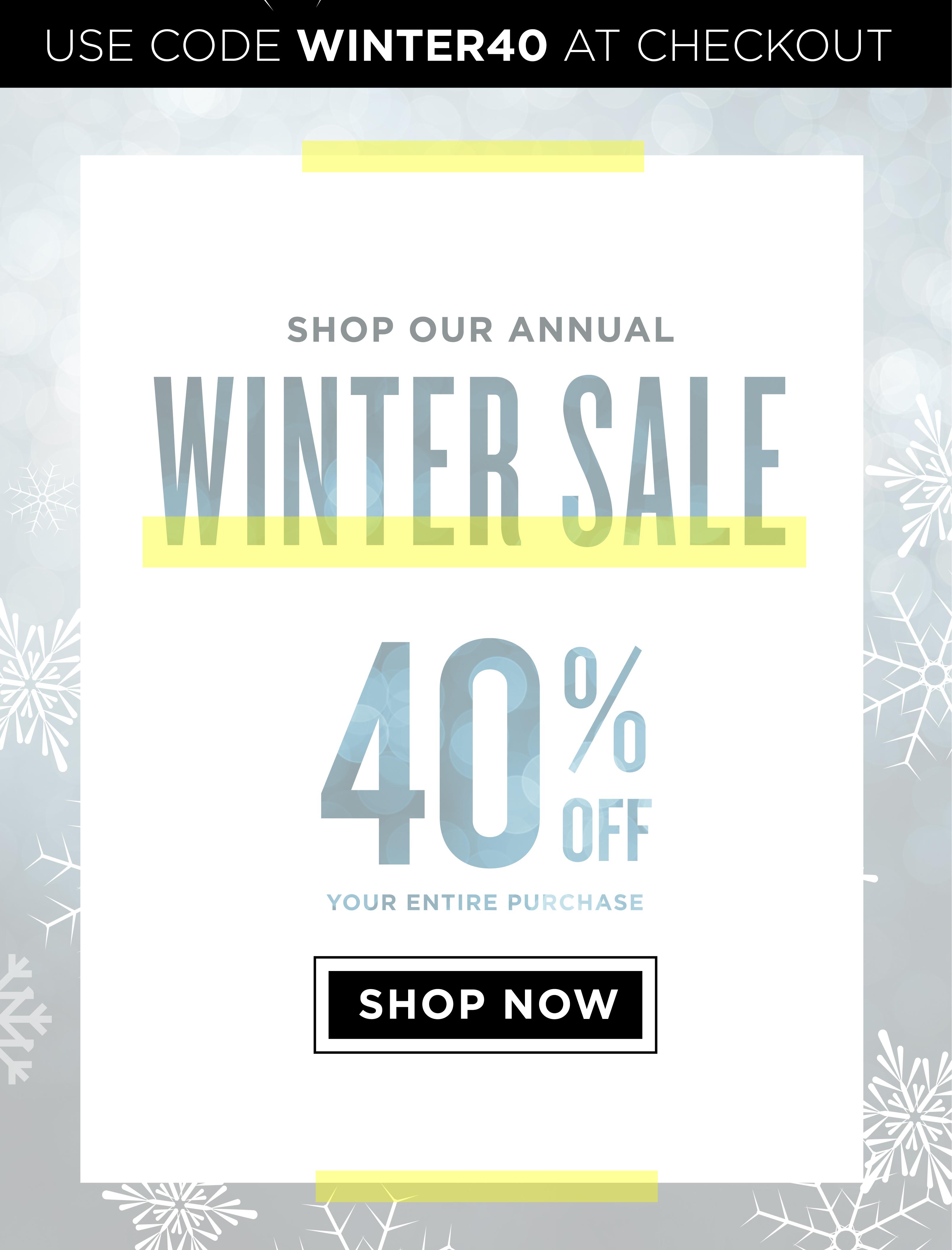 Winter Sale WINTER40